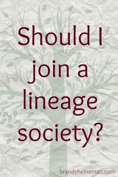 should i join a lineage society 1