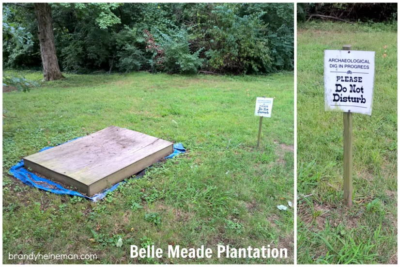 archaeological dig at belle meade