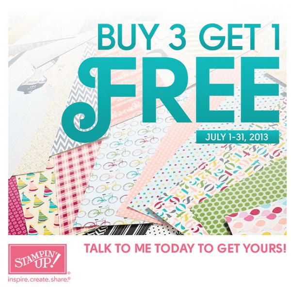 Stampin Up Buy 3 Get 1 FREE!