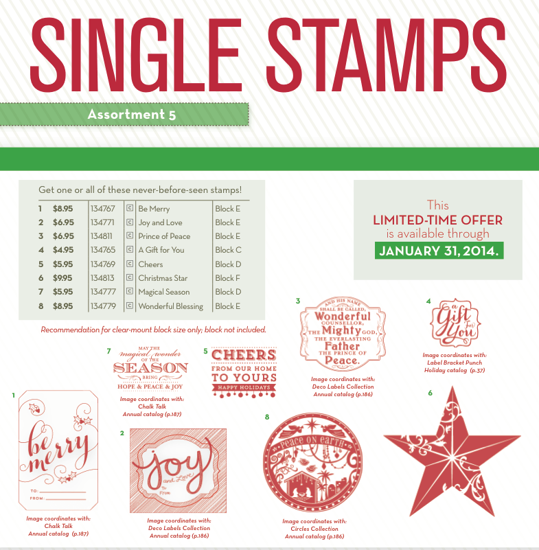 Stampin Up Need a Single Holiday Stamp?