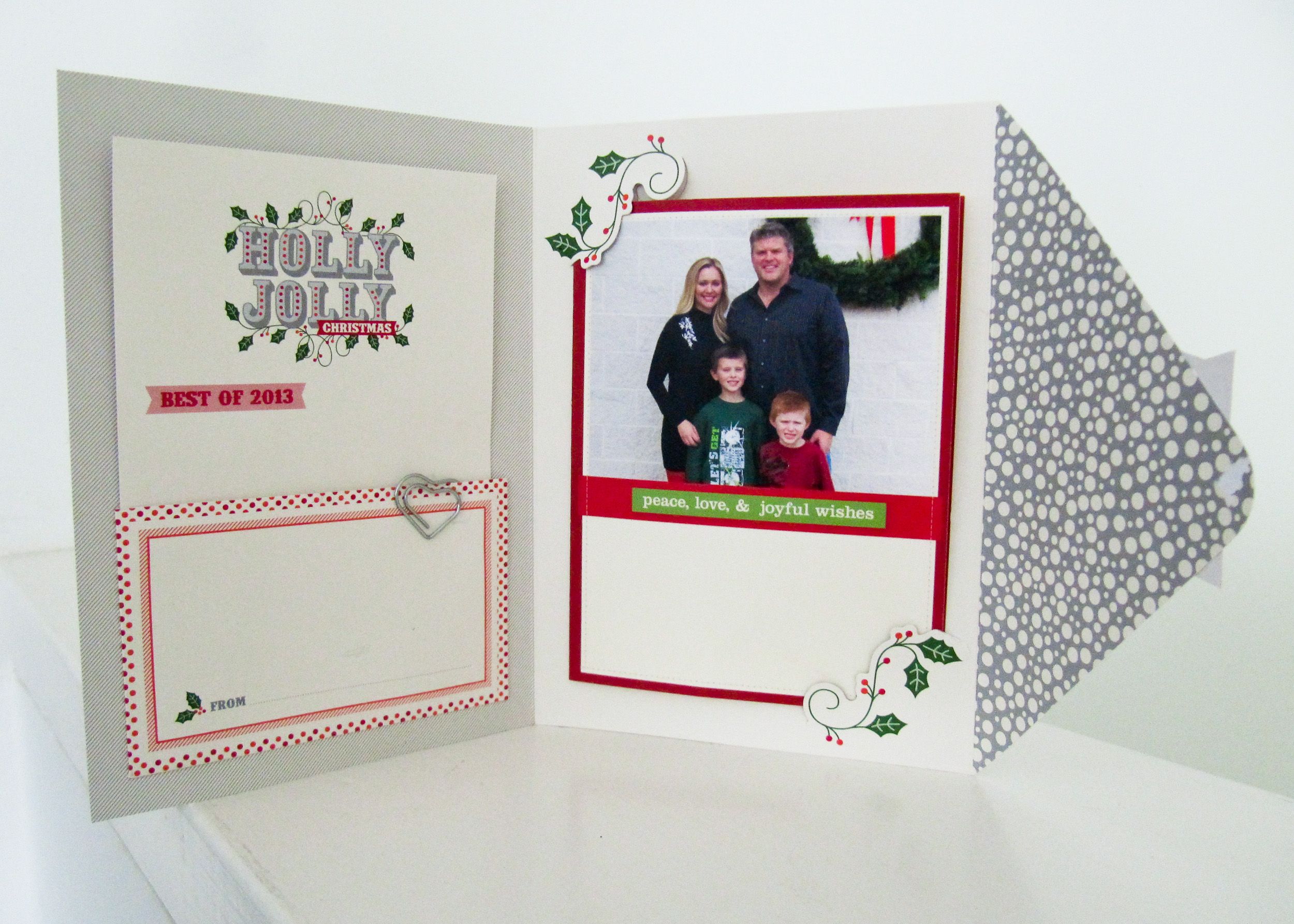 Stampin Up Holly Jolly Photo Christmas Card Simply