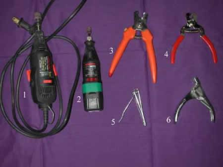 grooming nail tools