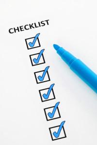 Blue checklist