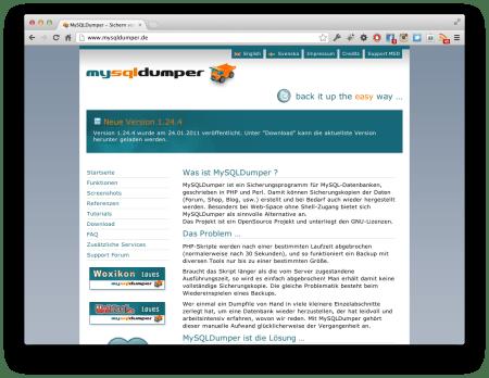 Screenshot MySQLDumper