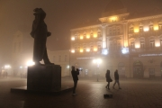 Foggy evening in Novi Sad