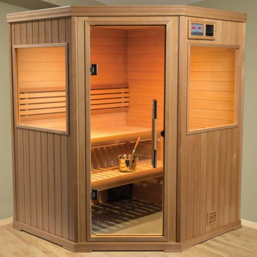 Hallmark Series   HM 55C Cozy Corner   Branson Hot Tubs and Pools Finnleo Sauna Controls