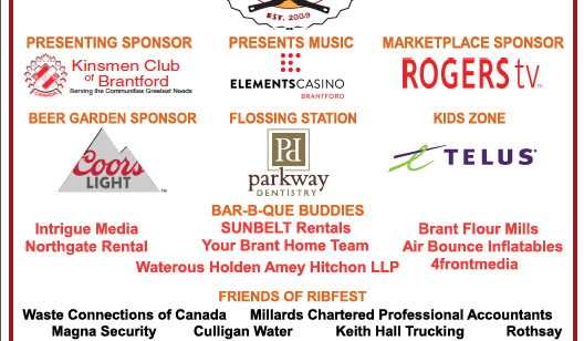 RIBFEST Sponsor Signs 2018