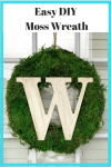 Easy DIY Moss Wreath - Home Decor
