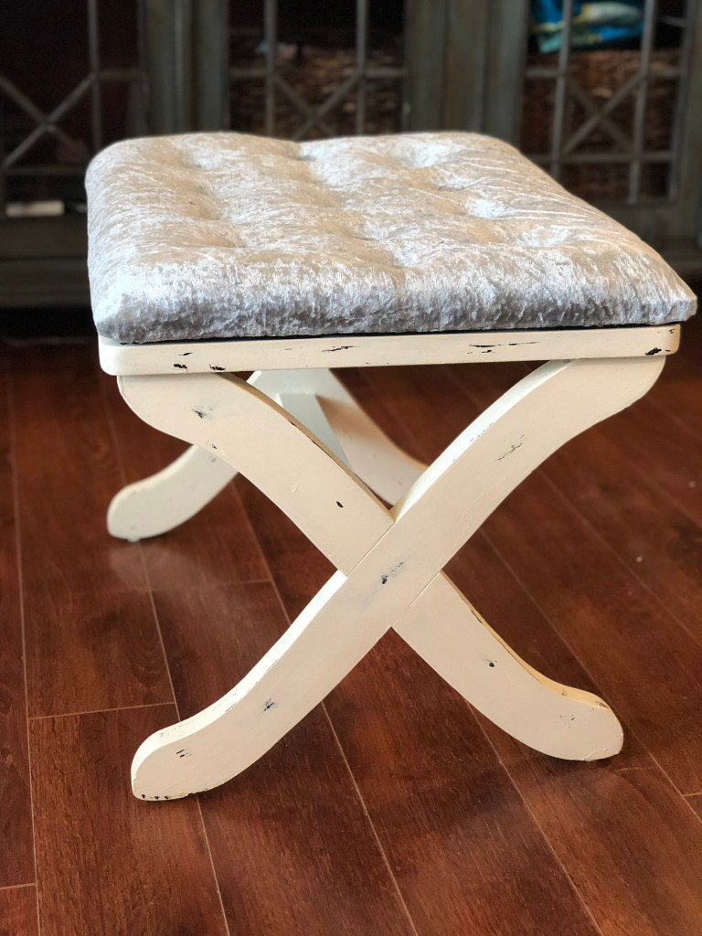 IMG 3016 768x1024 - DIY Tufted Stool Makeover