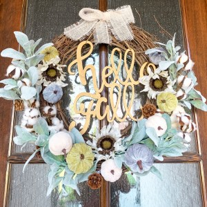 IMG 7272 - DIY Hello Fall Pumpkin Wreath
