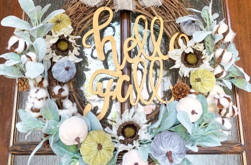 IMG 7272 - DIY Hello Fall Pumpkin Wreath