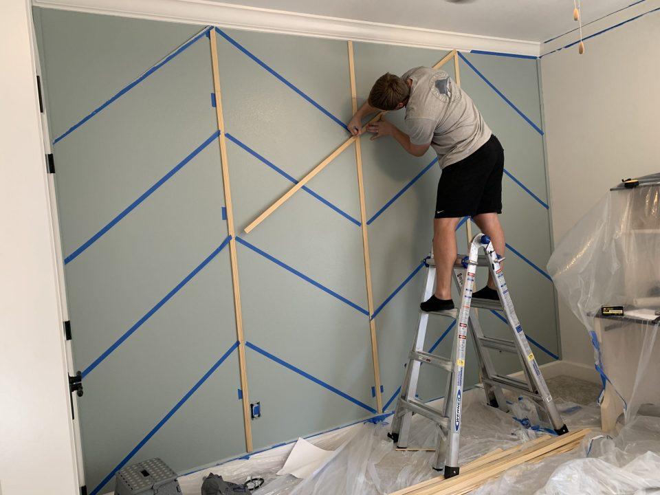 IMG 7814 scaled - DIY Herringbone Wall