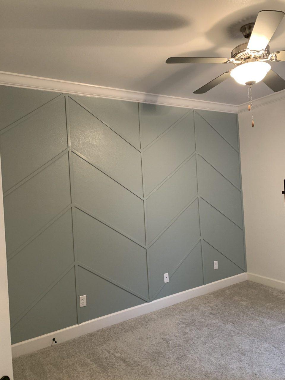 IMG 7845 scaled - DIY Herringbone Wall