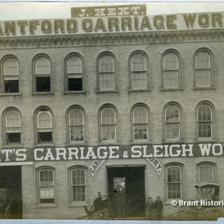 Hext's Carriage and Sleigh Works c. 1881