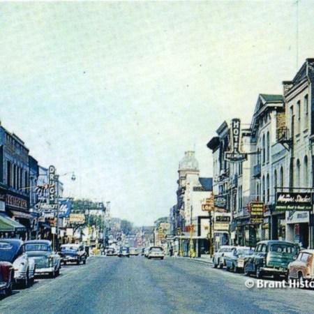 Photo of Downtown Brantford Circa 1960