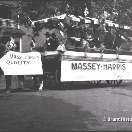 Victory Parade 1919 Massey Harris Float