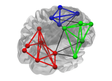Figure 6: High modularity. This graph is composed by 3 clearly separated communities with a high number of within-module connections and a low number of between-module connections.