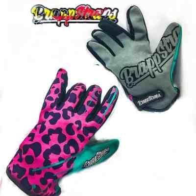 Neon Leopard MX gloves