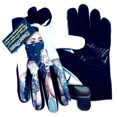 Filthy World Black MX Gloves by Brapp Straps