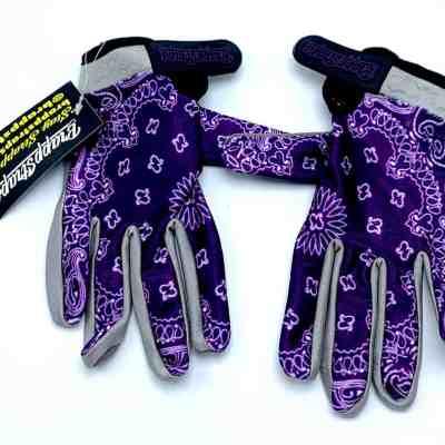 Purple Bandana MX Glove by BrappStraps