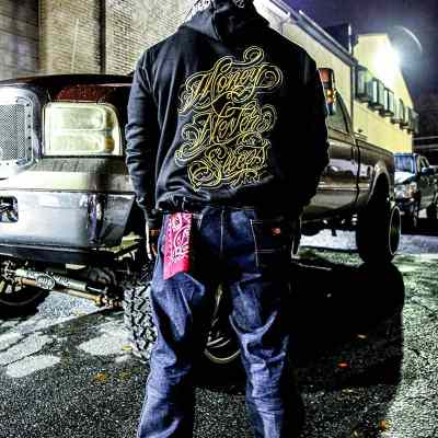Money Never Sleeps Zip Up Hoodie by Boog Star/Brapp Straps