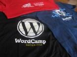 Camisetas dos WordCamp Sampa...