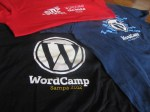 Camisetas dos WordCamp Sampa...