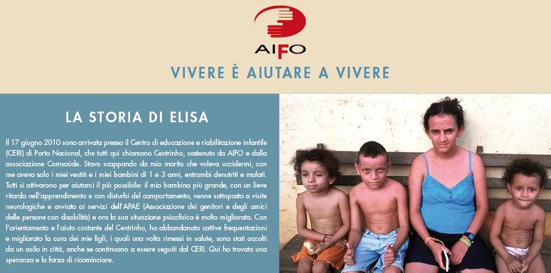 Campanha AIFO a favor dos projetos para a infância no Brasil