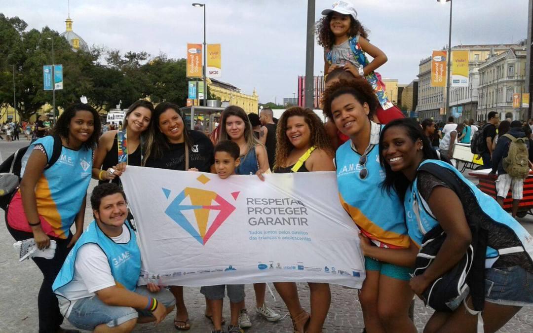 Cerca de 100 voluntários atuaram na proteção de crianças e adolescentes durante os Jogos Olímpicos 2016
