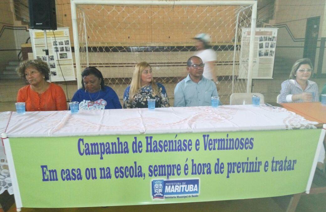 Lançamento da campanha contra hanseníase em Marituba/PA