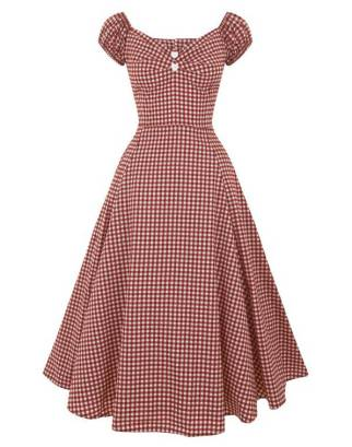 Collectif Dolores Sweetheart Gingham Dress