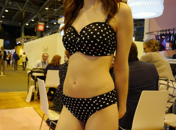 Panache Swim Anya Spot Bandeau Bikini Set in Black White (Panache Swim AW16)