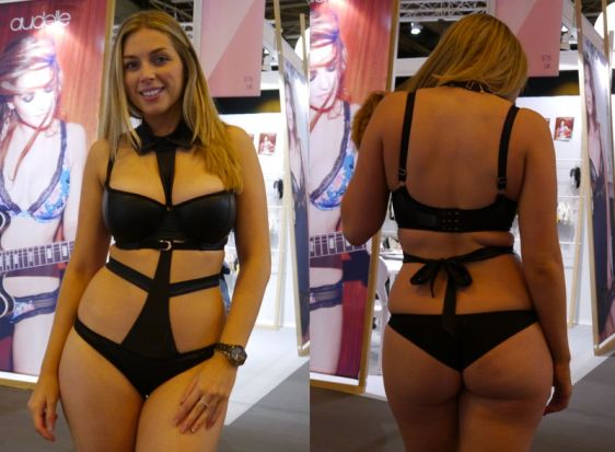 Scantilly Unleash Bra with Tuxedo Bodysuit in Black (Scantilly AW16)