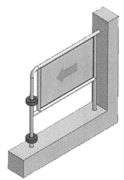 3D VIEW OF DOOR GUARD
