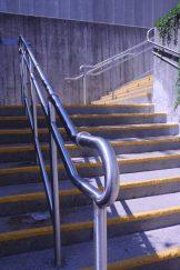 Stainless Steel Railings w/ Skate Deterrents