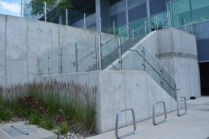 Outdoor Glass Staircase