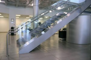 Glass & Stainless Steel Staircase