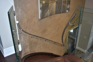 Curved Glass & Stainless Steel Staircase