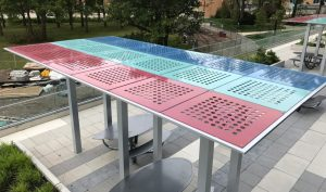 Painted & Stainless Steel Trellis