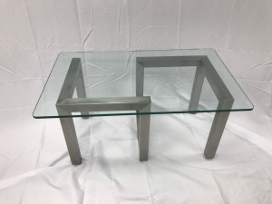 Stainless Steel Coffee Table w/ Glass Top