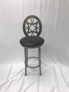 Laser Cut Stainless Steel Stool w/Upholestry
