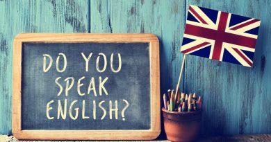 """Quadro negro com a pergunta """"do you speak english""""?"""