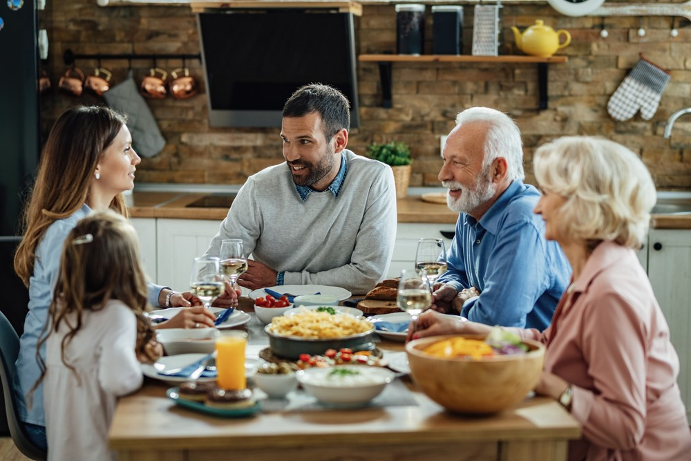 family dinner ingles com a familia cambly