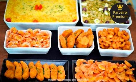 Festival de camarão, peixes e buffet de salada no O Rei do Camarão