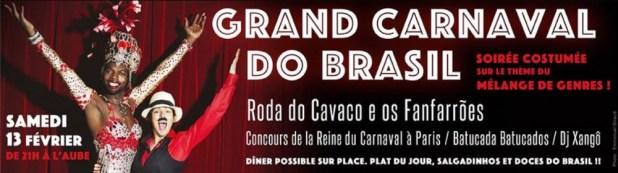 Grand Carnaval do Brasil à Paris et Concours de la Reine du Carnaval 2016