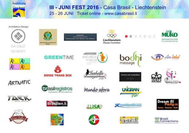 Casa Brasil Juni Fest 2016 apoio