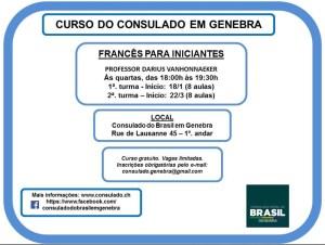 Curso de francês para iniciantes gratuito em Genebra @ Consulado-Geral do Brasil em Genebra | Genève | Genève | Suíça