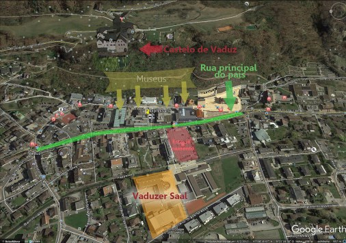 Google earth Vaduz map