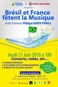 Brésil et France fêtent la Musique le 21 Juin 2018 @ Espace Krajcberg | Paris | Île-de-France | França