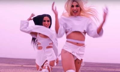 Anitta deixa o seio à mostra no clipe com Pabllo Vittar